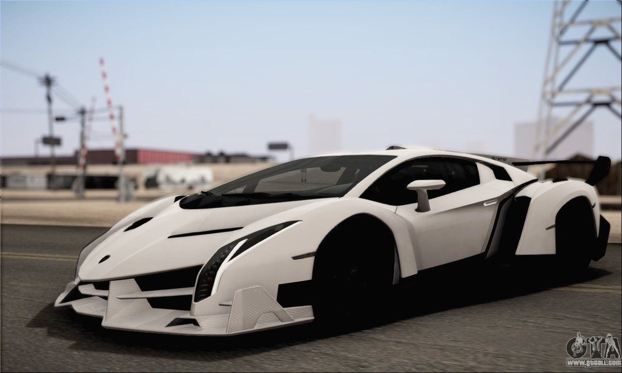 White Lamborghini Veneno Hd Wallpaper