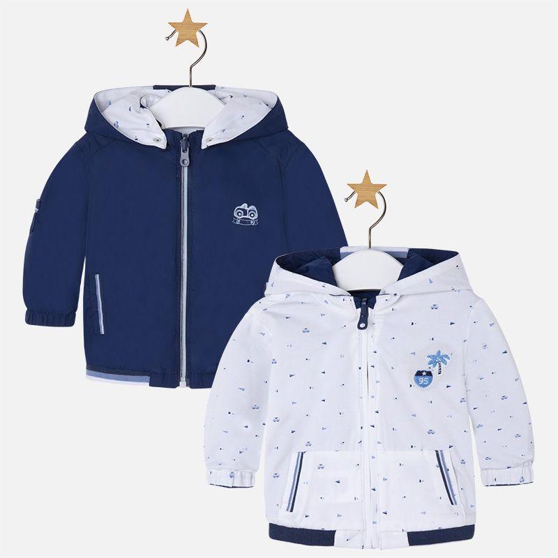 617c17f92 Cortavientos bebé niño reversible con capucha Noche Chalecos Para Bebe,  Calzado Para Bebes, Moda