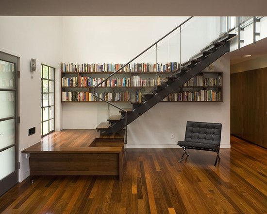 Library Open Stairs Design, Pictures, Remodel, Decor and Ideas - page 10