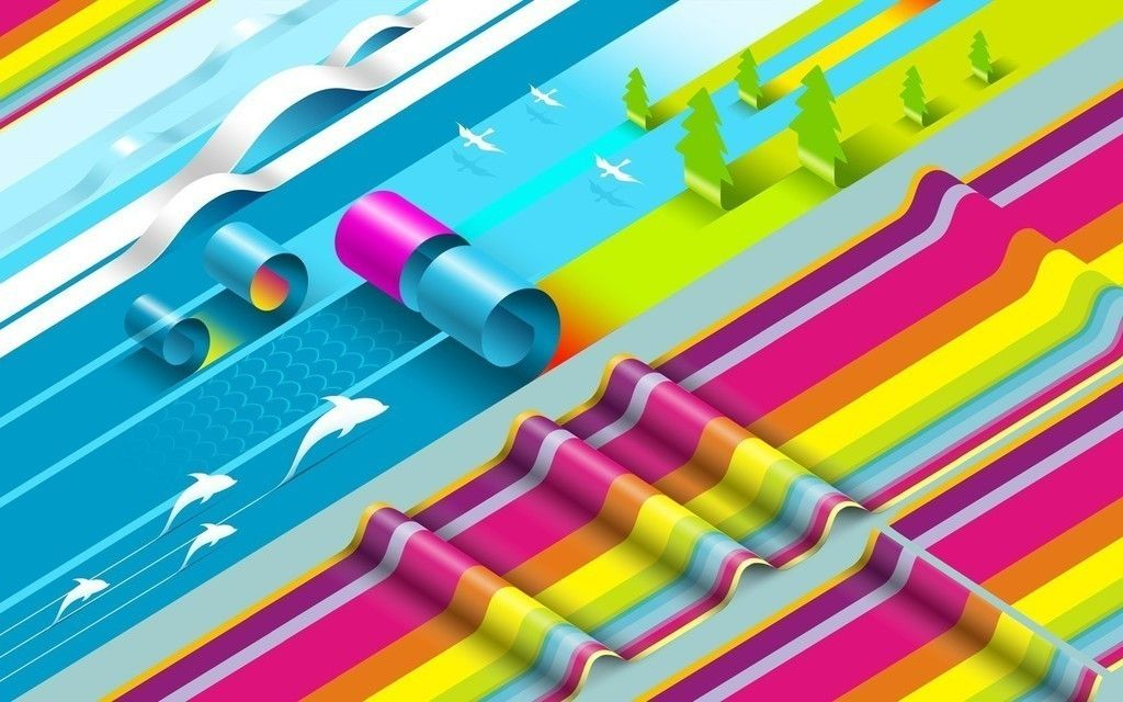 Simple, abstract, colorful, design wallpaper | Material Design, HD ...