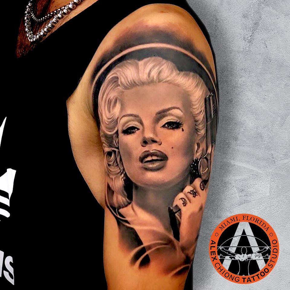 Realism Black And Gray Tattoo Artist Alexchiongtattoo For Appointments 786 613 0486 Studio 1 786 381 In 2020 Black And Grey Tattoos Grey Tattoo Portrait Tattoo