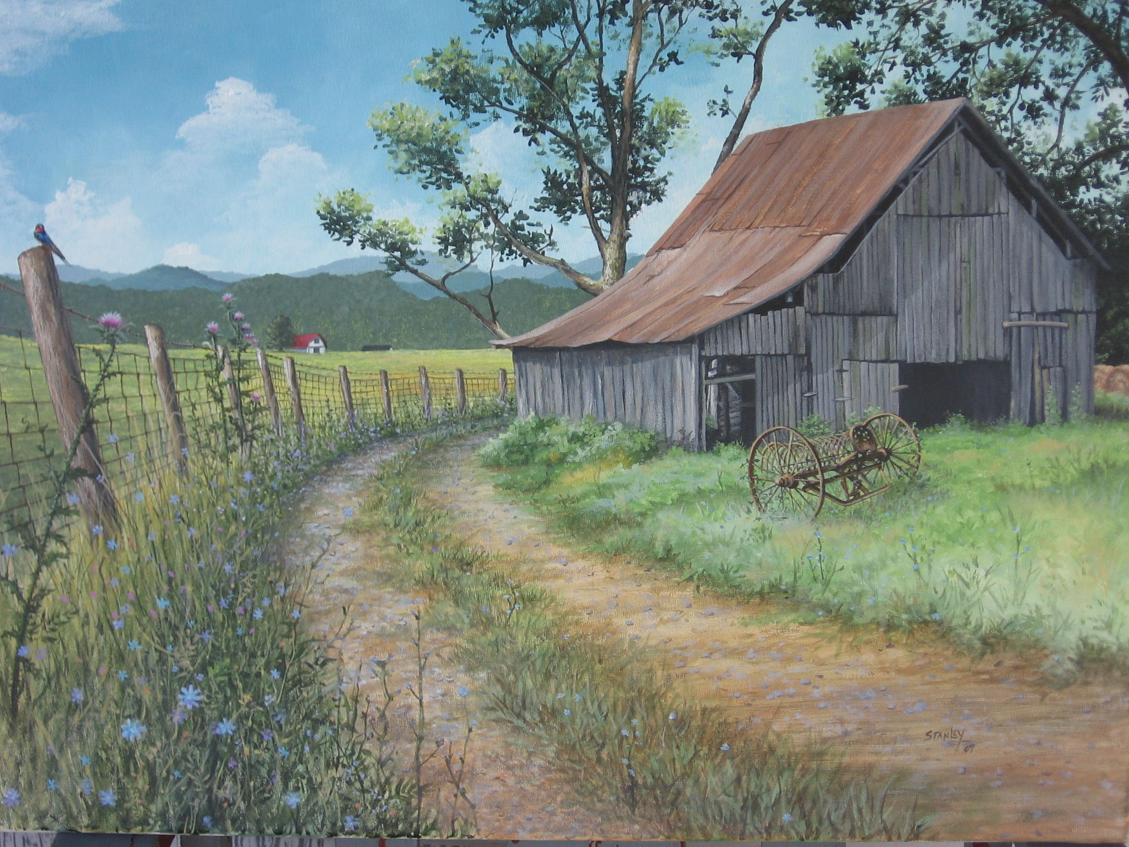 Paintings Of Old Tobacco Barns Google Search Barn And