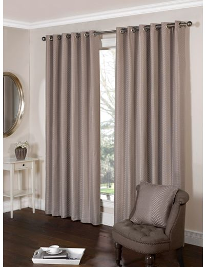 Tibet Ready Made Eyelet Curtains Taupe Interior Design