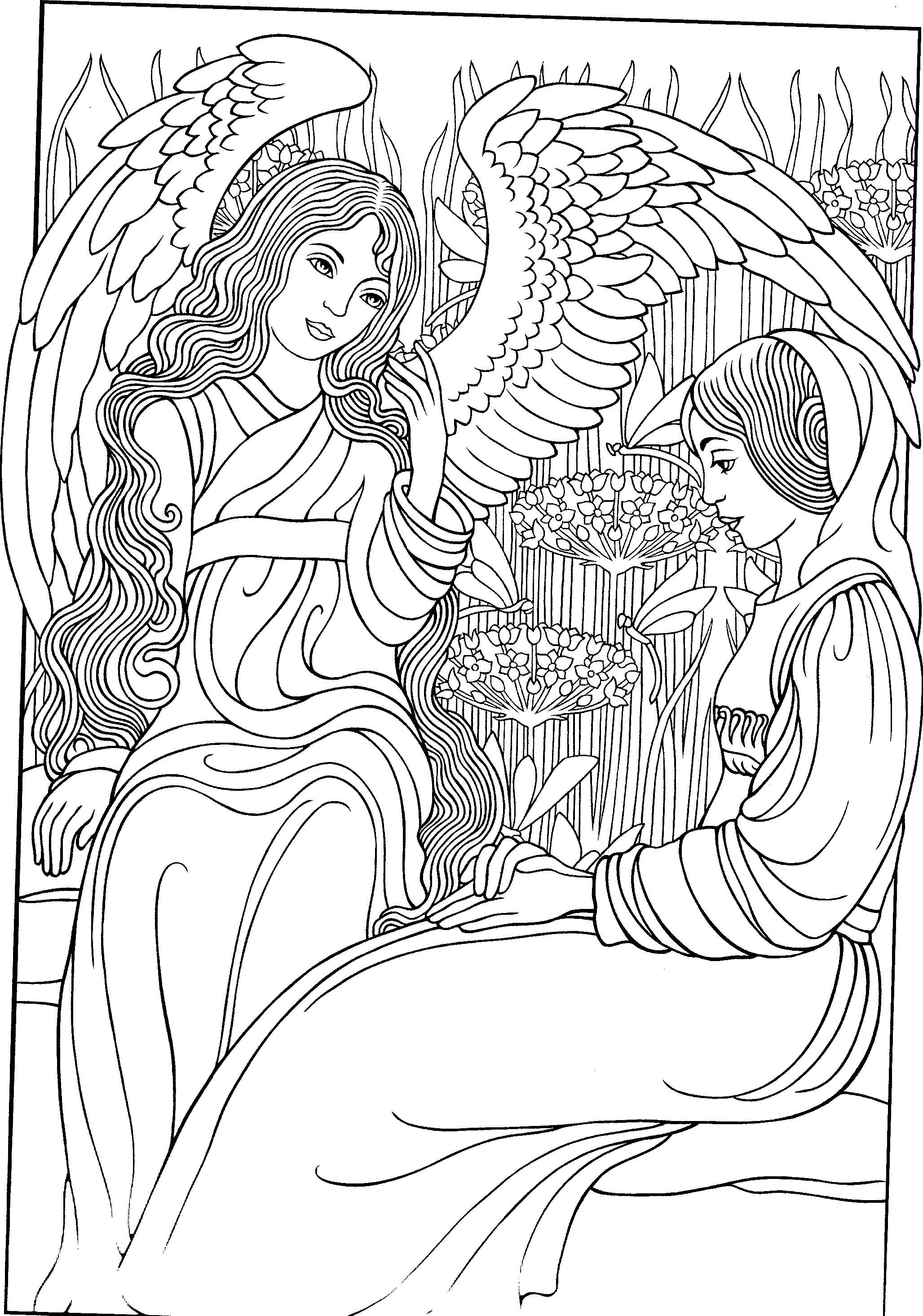 angels colouring page colouring fairies angels