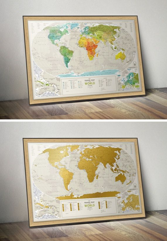 Push pin travel map scratchable world map wall poster with push push pin travel map scratch off world map wall poster with gumiabroncs Gallery