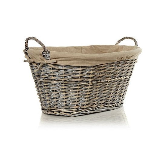 J by Jasper Conran Designer linen and wicker laundry basket- at ...