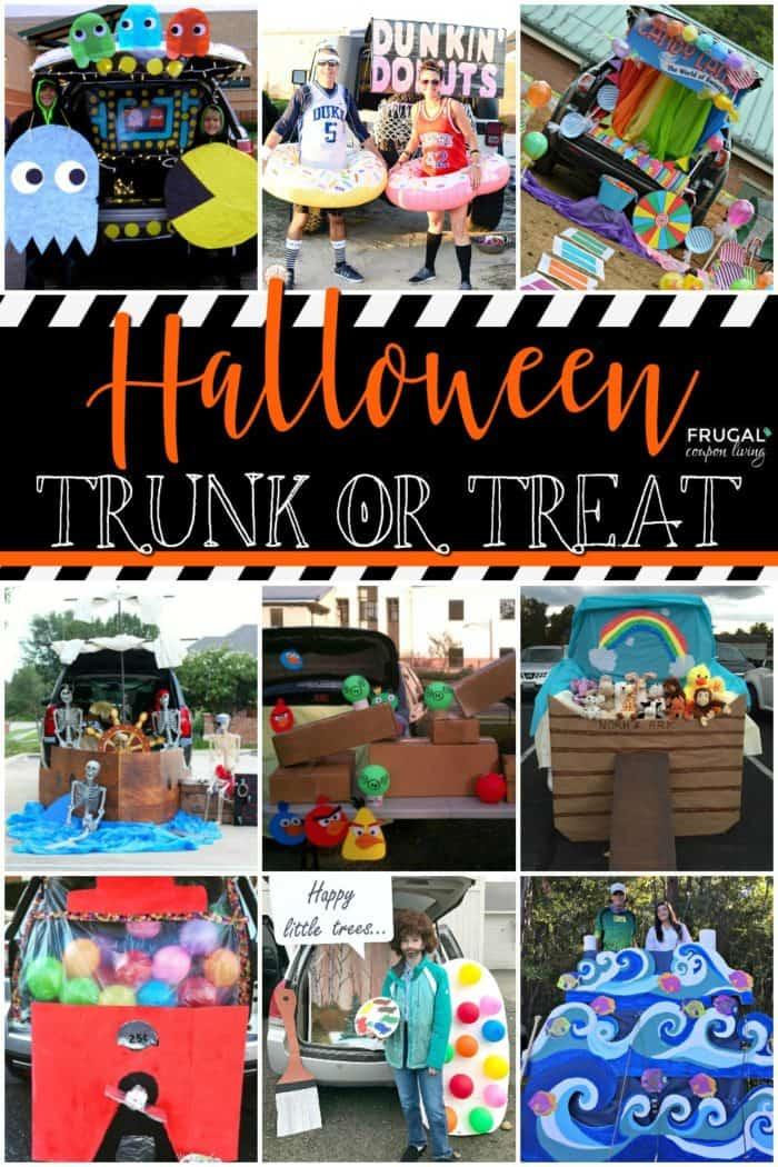 Kid Friendly Trunk Or Treat Ideas For Cars Suvs Vans And Trucks Trunk Or Treat Church Halloween Halloween Car Decorations
