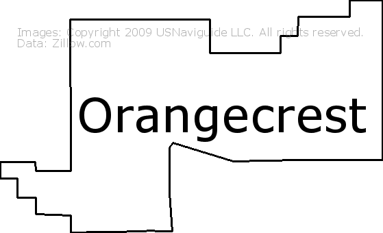Orangecrest Riverside California Zip Code Boundary Map Ca