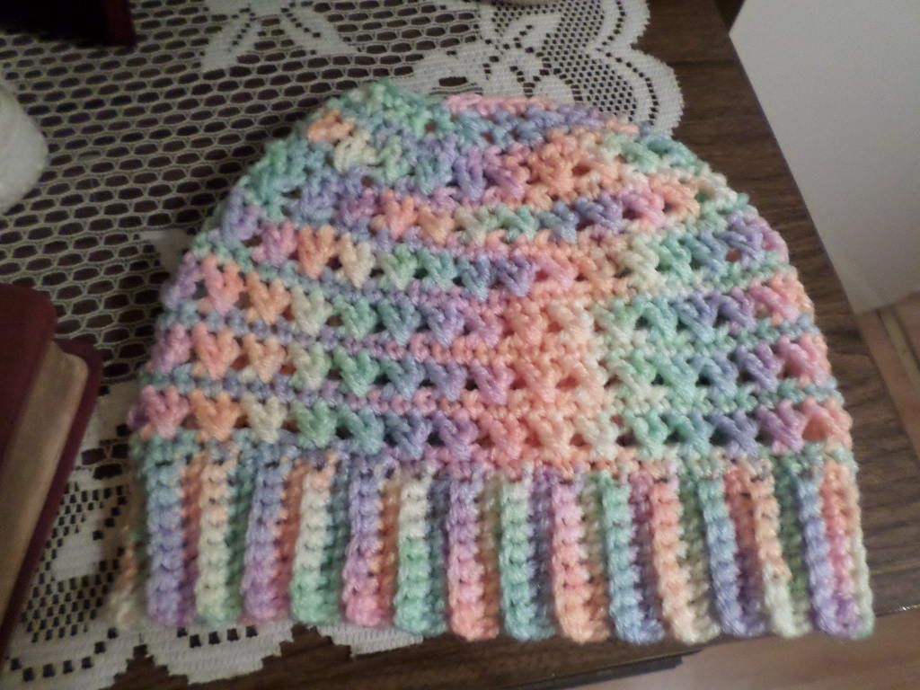 Messy Bun Pony Tail Crochet Hat Multi Colored by MARGESCROCHET on ...