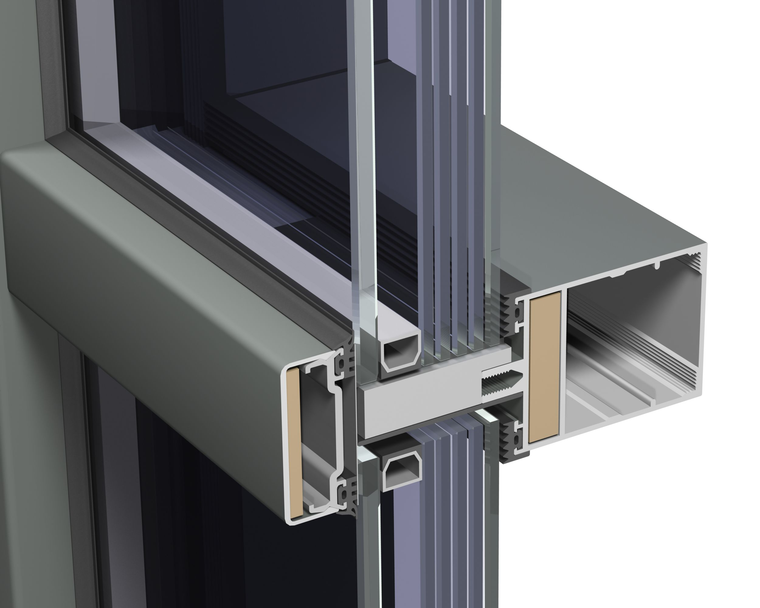 Steel frame curtain wall detail google search teaching for Window wall