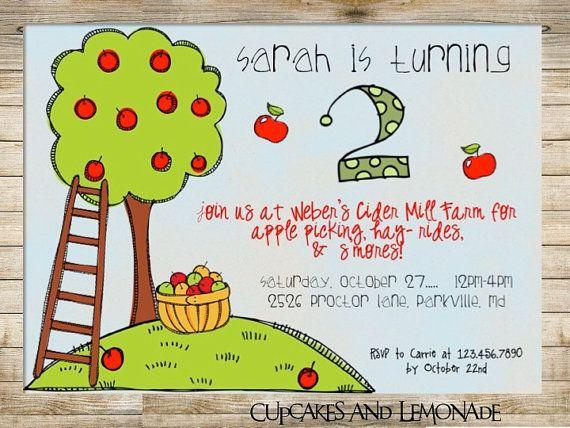 Printable Apple Orchard Invitation