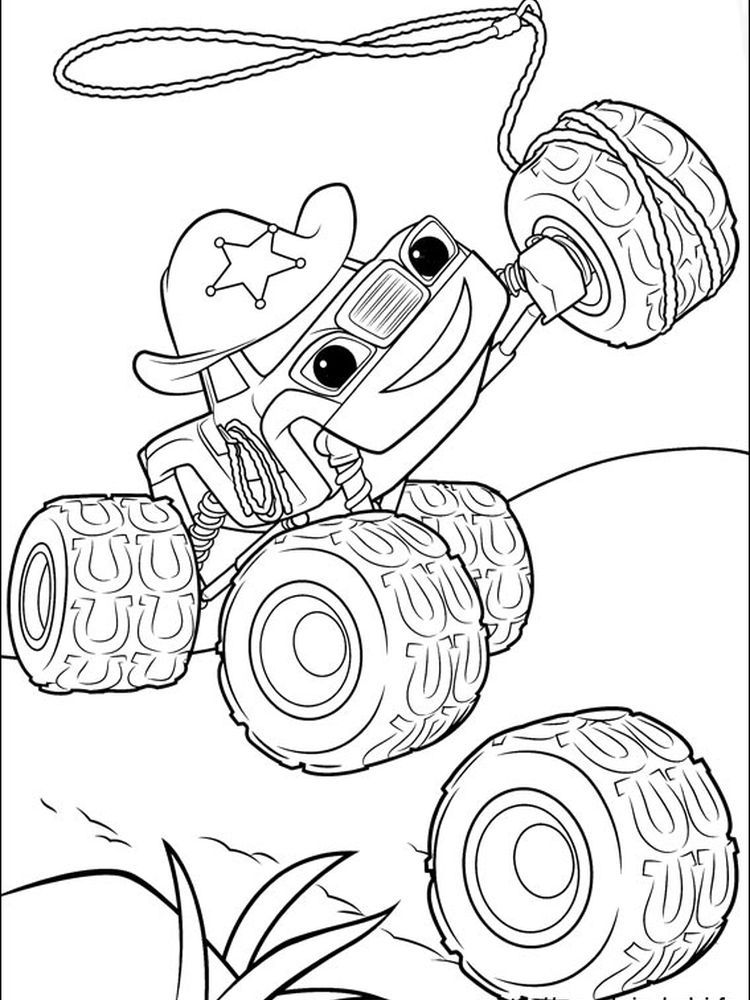 Printable Starla 2 Blaze And The Monster Machine Is An Animated Television Series That Co In 2020 Monster Truck Coloring Pages Owl Coloring Pages Truck Coloring Pages