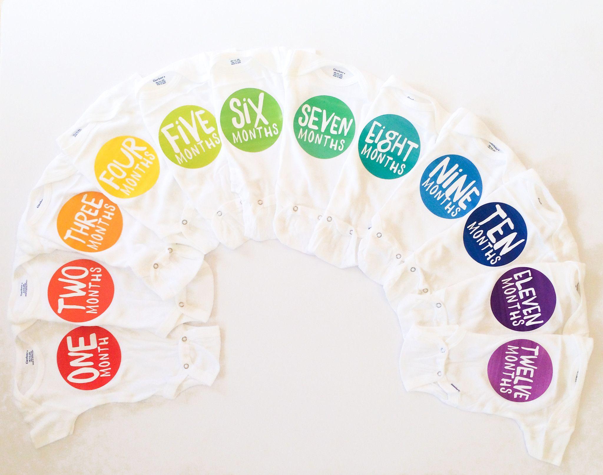 Rainbow Spectrum Monthly Stickers