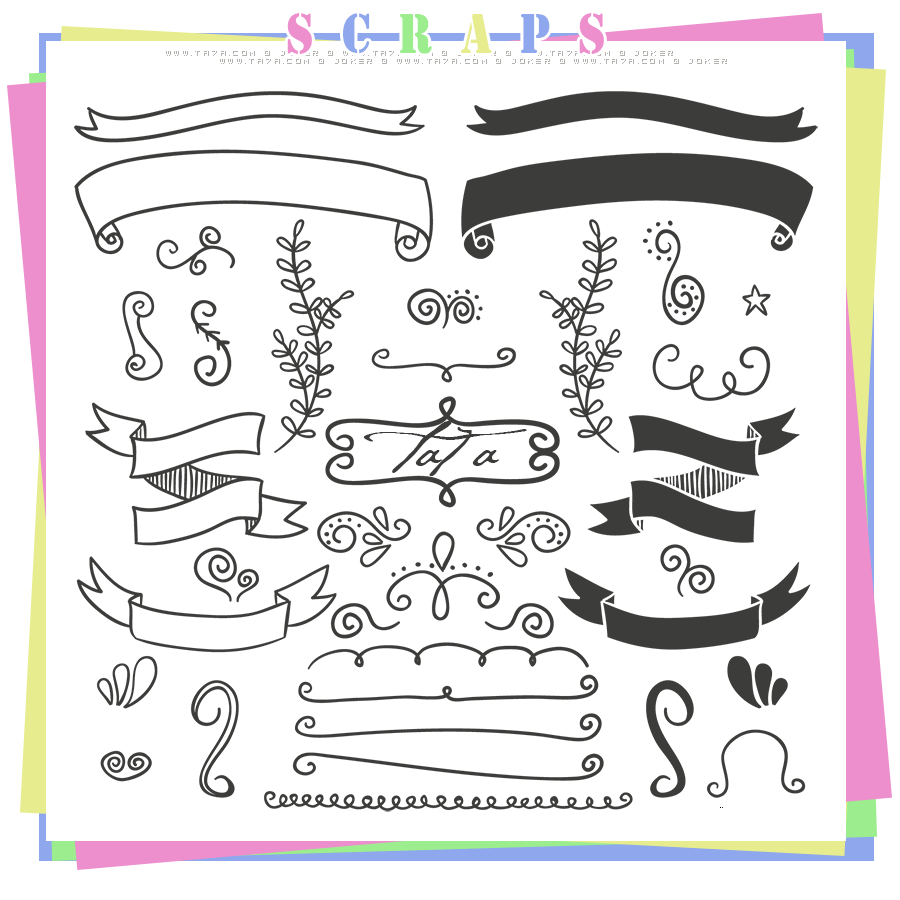 سكرابز سكرابز للتصميم سكرابز زخارف زخارف جديدة Scraps 2015 منتديات التحليه Free Vector Ornaments Vector Free Free Doodles