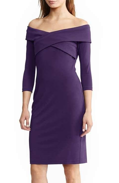 73c37be12 Lauren Ralph Lauren Off the Shoulder Dress | Pretty Dresses ...