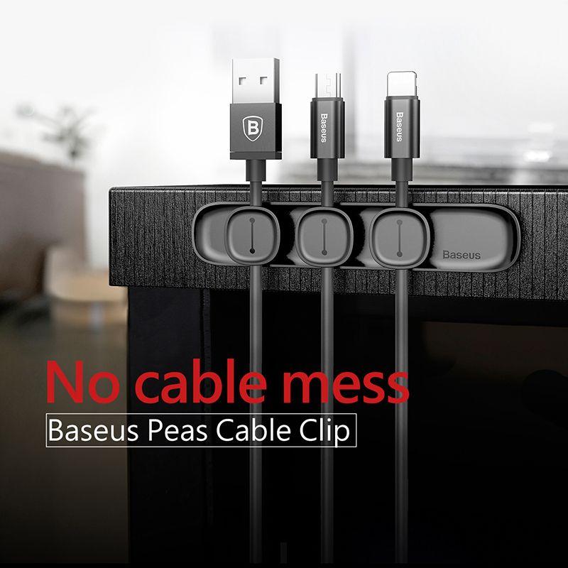Baseus Magnetic Cable Clip Cable Holder Desktop Cable Management ...