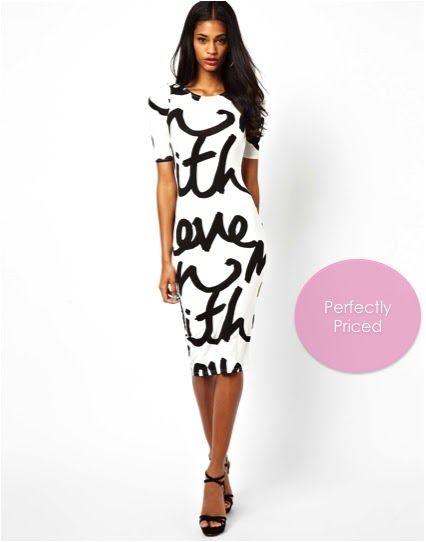 Pish Posh Perfect | Perfectly Priced: Word Print Dress | Pish Posh ...