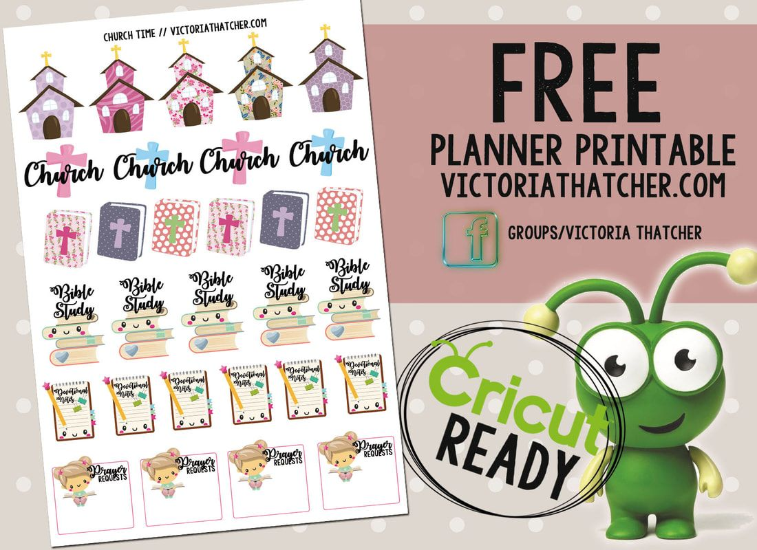 Church Time Cricut Ready Printable Planner Printable