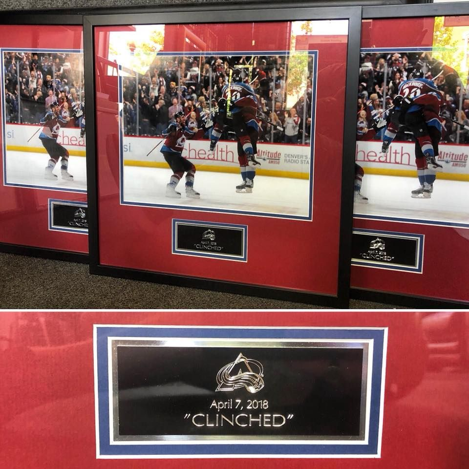It S Always An Honor To Frame For The Colorado Avalanche Art Pictureframing Customframing D Sports Pictures Custom Picture Frame Super Healthy Recipes