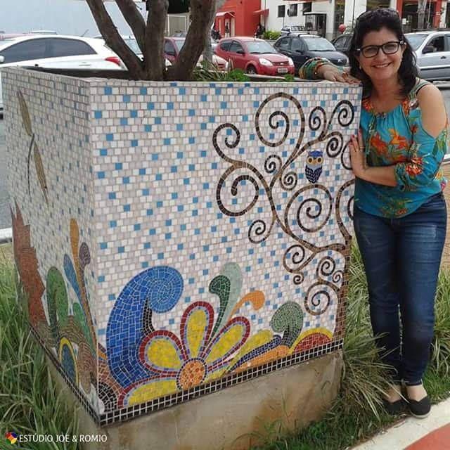 Vaso com painel Jardim da vida com Marilda | by Estúdio Joe & Romio