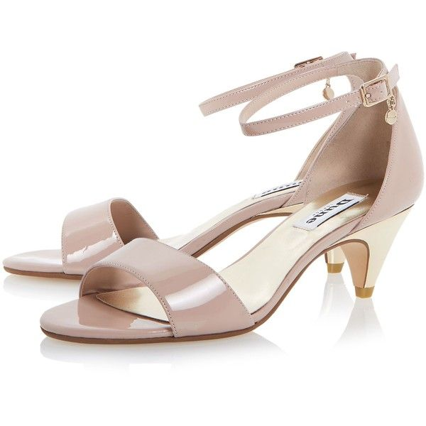 Dune Marina two part kitten heel sandals ❤ liked on Polyvore ...