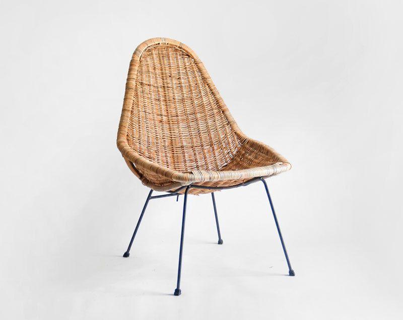 Mid Century Basket Chair   Lounge  Dining  Modern  Retro  Woven  WickerMid Century Basket Chair   Lounge  Dining  Modern  Retro  Woven  . Modern Wicker Chair. Home Design Ideas