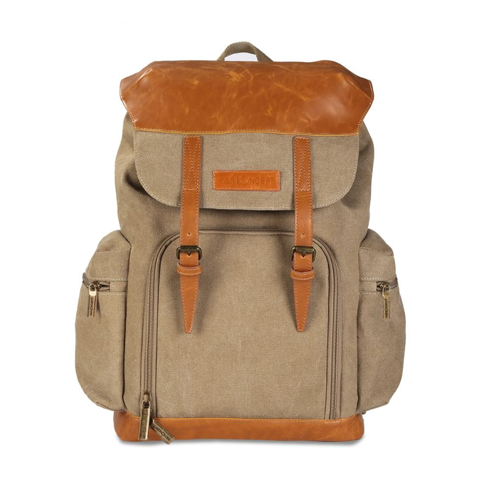 68.05   K F CONCEPT Backpacks Camera Canvas + Leather Bags Soft  Shoulders Bag Big Capability Modern Casual Camera Backpack For Canon