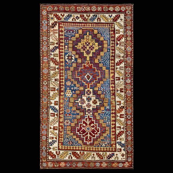 """Antique Caucasian Kazak Tribal Rug 3'6""""x 6'"""
