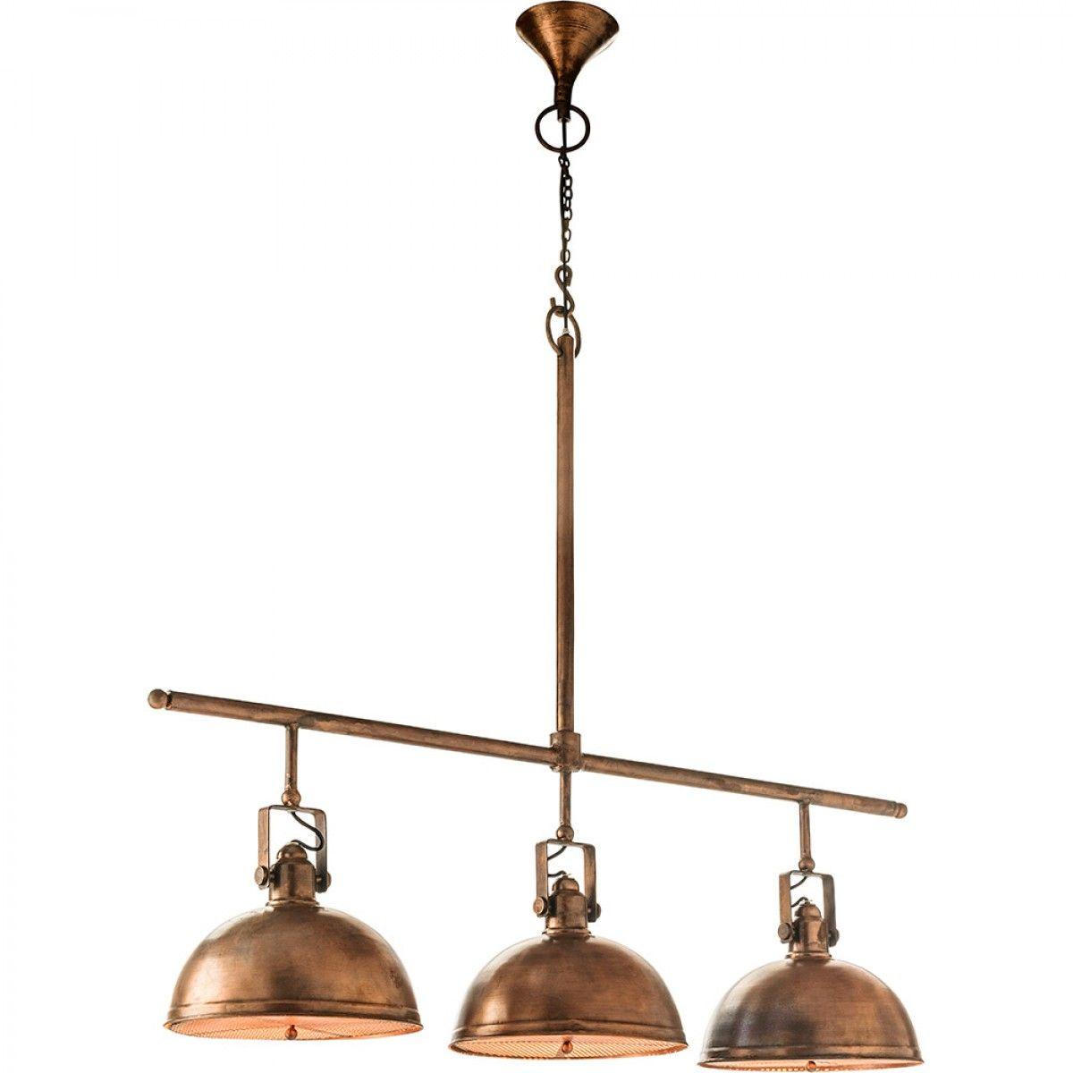 Antique Kitchen Lighting 3 Light Retro Servery Antique Copper Finish Pendant Lights