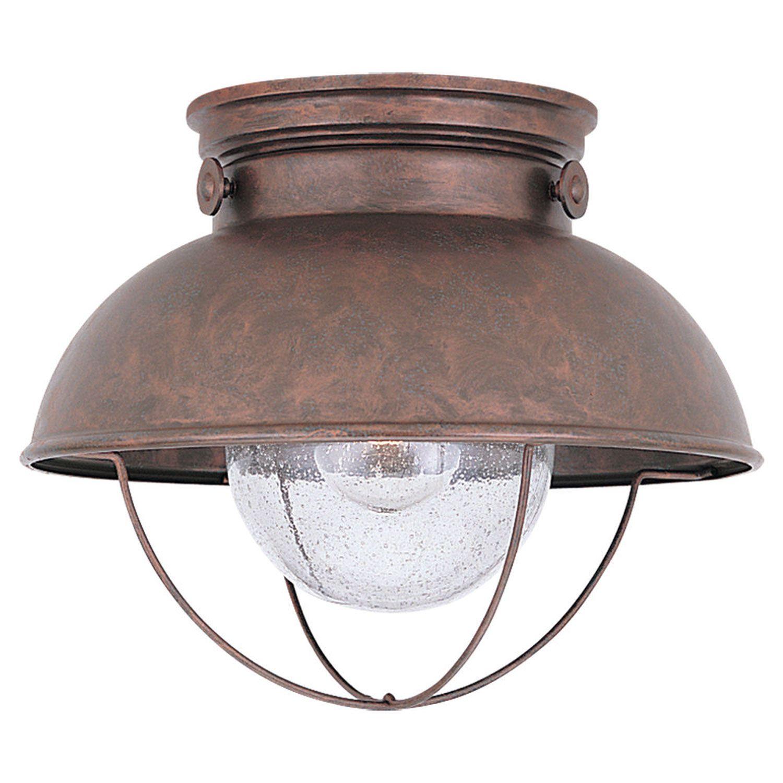 Sea gull lighting sebring weathered copper outdoor ceiling light sea gull lighting sebring weathered copper outdoor ceiling light aloadofball Images