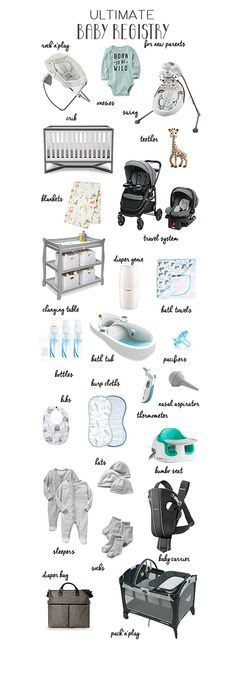 Ultimate Baby Registry for New Parents A list of everything you r - baby registry checklists