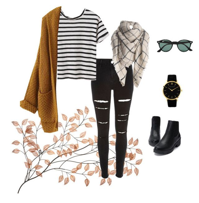 """""""Untitled #23"""" by georgia-marcellus on Polyvore featuring River Island, Ray-Ban and Larsson & Jennings"""