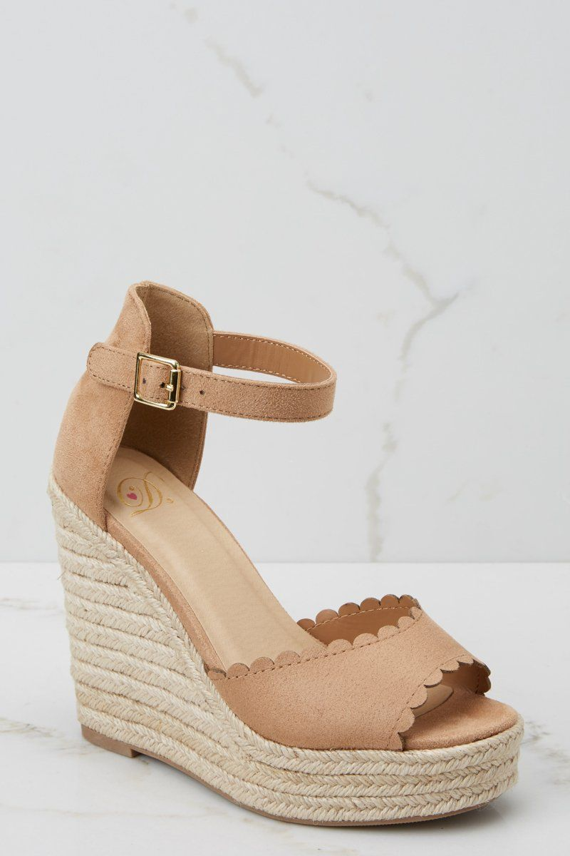 official store release date 2018 shoes Trendy Tan Wedges - Cute Wedges - Wedges - $36.00 – Red Dress ...