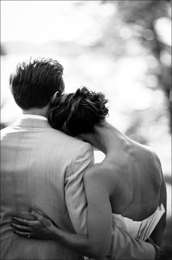 Lovely wedding photo  - black and white glamorous sweet bride and groom http://www.pinterest.com/JessicaMpins/