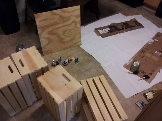 How To Make A Coffee Table Out Of Old Wine Crates Easy Diy