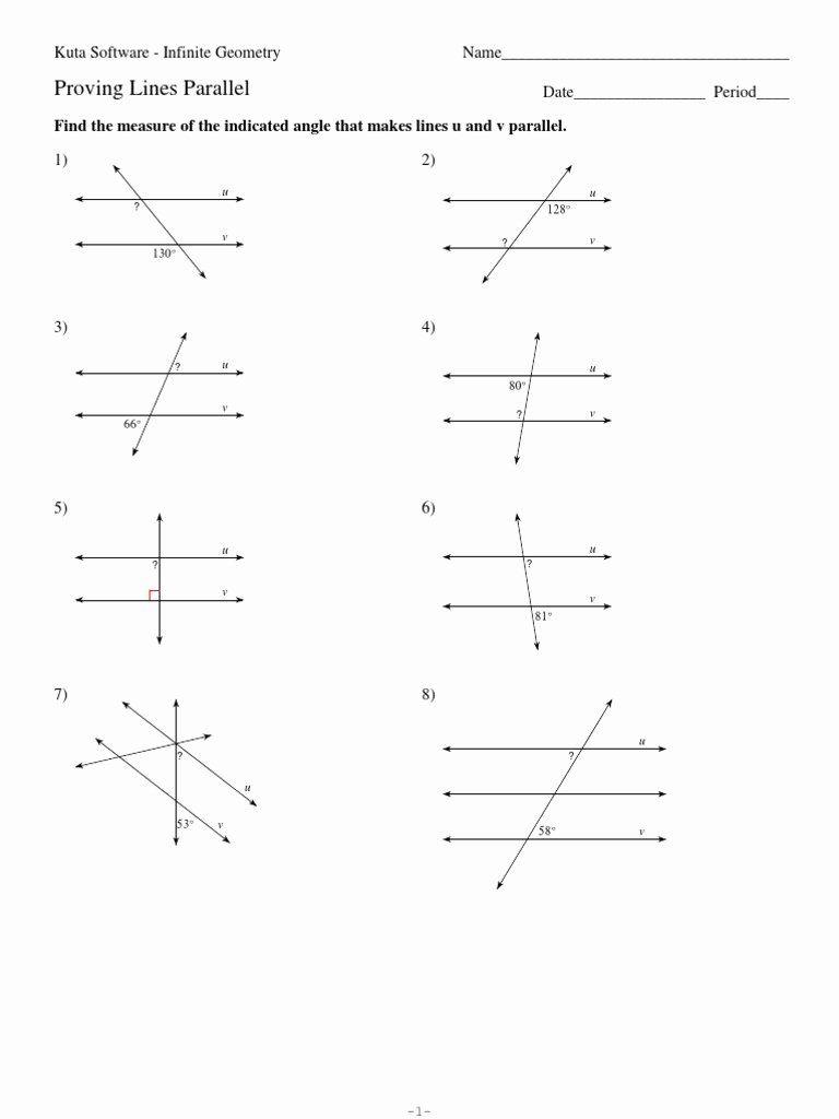 Angles In Transversal Worksheet Answers Inspirational Parallel Lines And Transversal Measures Geometry Worksheet Template Printable Worksheets Worksheets