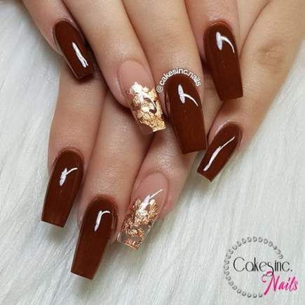 best nails design glitter brown ideas  rose gold nails