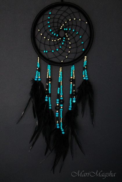 "Hunters handmade dreams.  Dream Catcher ""who"".  MariMagsha (Maria).  Online Store Fair Masters.  Dreamcatcher"