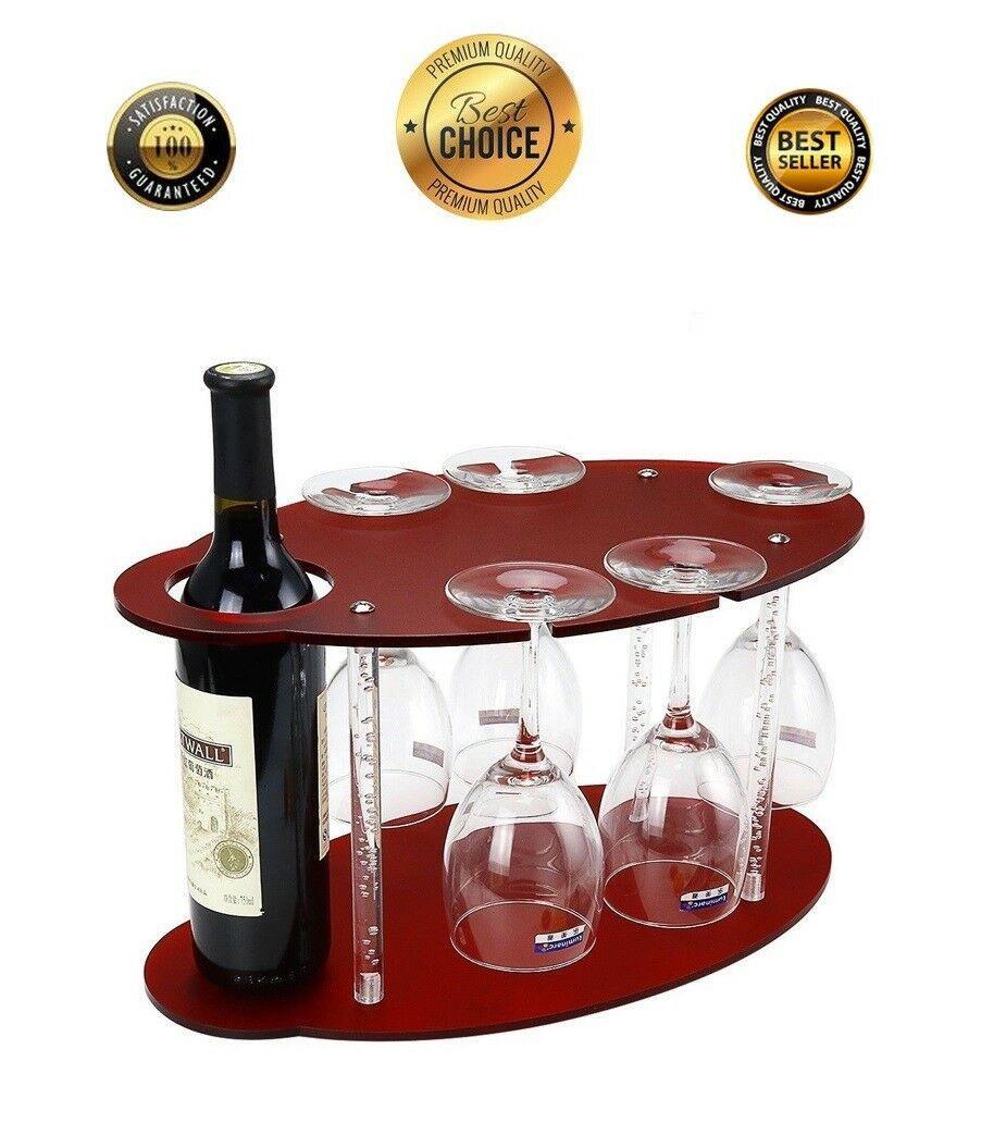 Table Top Wine Rack Wood Bottle Storage Free Standing
