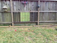 Repurposed Our Old Deck Railing For A Window In Fence For Dogs Backyard Fences