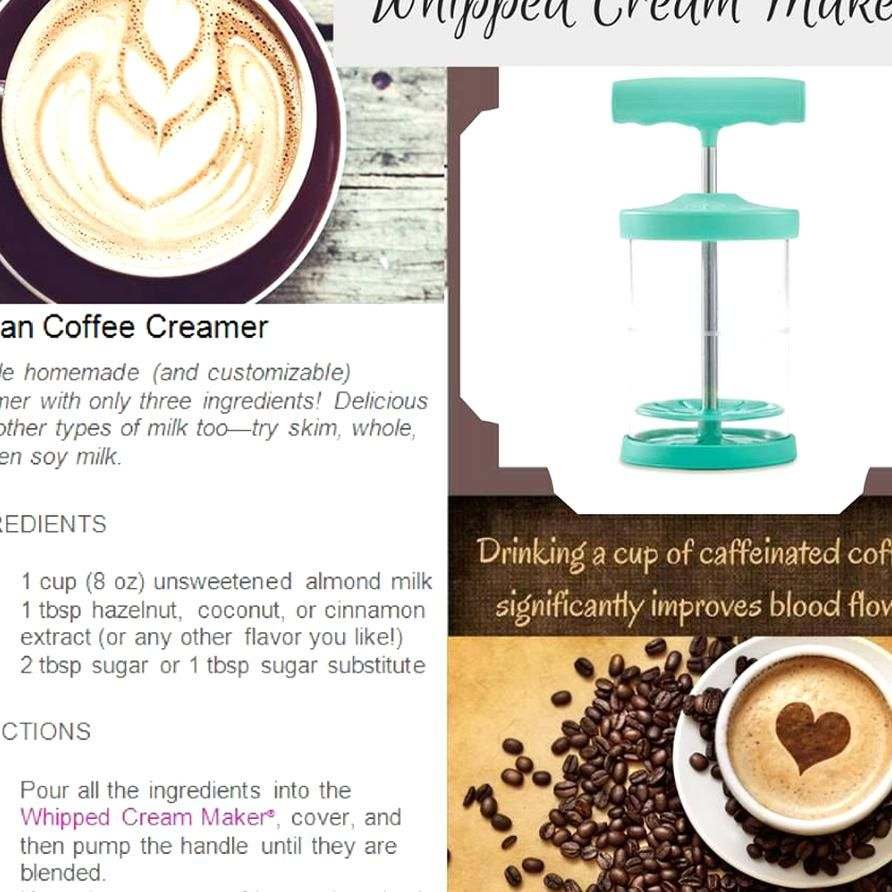 Make Coffee Creamer with your Whipped Cream Maker recipe