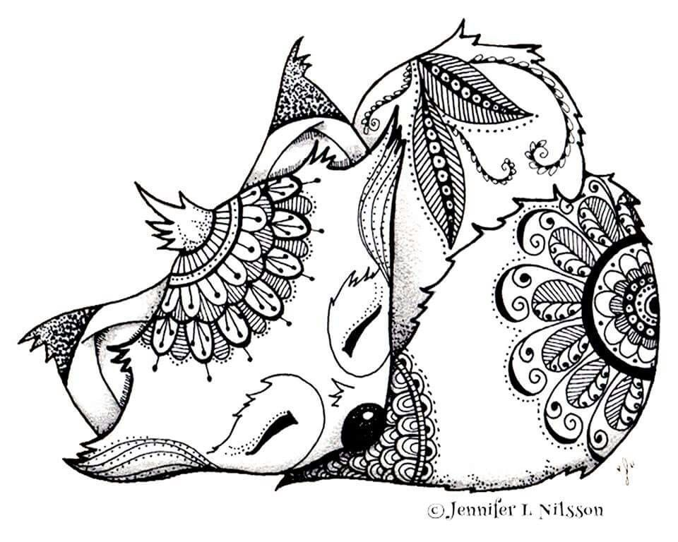 Naturel Coloring Pages Free in 2020 | Fox coloring page ...
