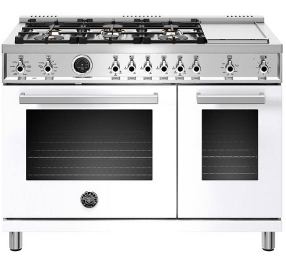 Bertazzoni Prof486gdfsbit Professional Series 48 Dual Fuel Range In White Range Cooker Double Oven Cooking Appliances