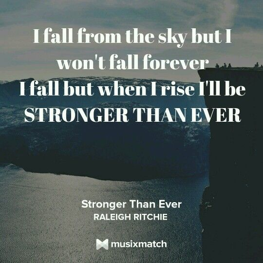 RALEIGH RITCHIE - STRONGER THAN EVER LYRICS