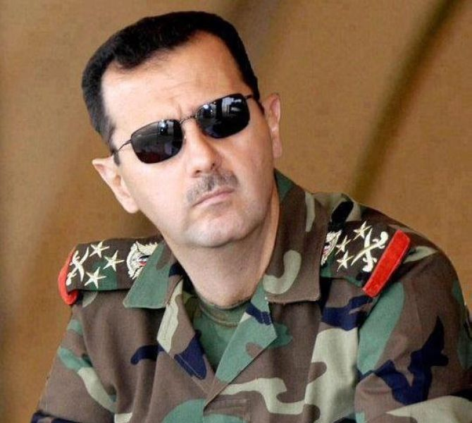 Presidente Assad in uniforme, Siria