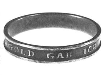 """1813 Ring mit der Inschrift """"Gold gab ich für Eisen"""" aus"""