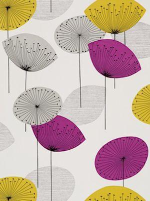 Sanderson Dandelion Clocks Gold Mauve Wallpaper Purple Wallpaper Clock Wallpaper Pattern Wallpaper