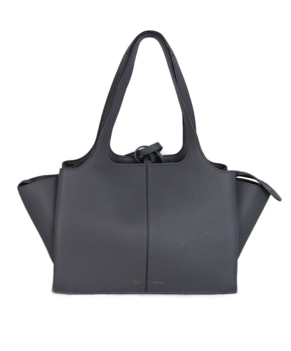 8727eaca959 Celine Grey Leather Tri-Fold Handbag #greyhandbags #eveningbagsgrey ...
