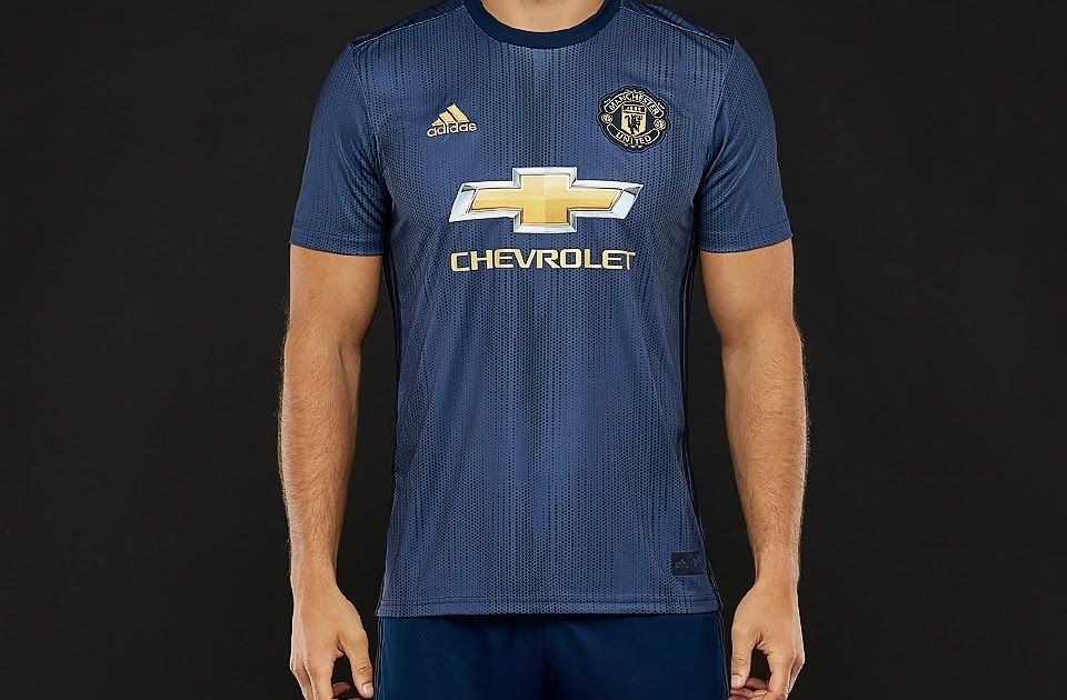 Adidas Manchester United 2018 19 Third Jersey Collegiate Navy Night Navy Matte Gold Adi In 2020 Manchester United Third Kit Manchester United Shirt Manchester United