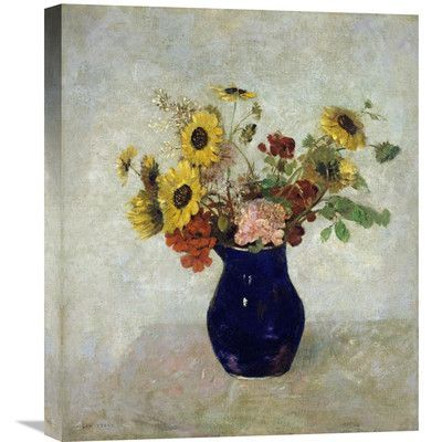 Global Gallery 'Vase De Fleurs' by Odilon Redon Painting Print on Wrapped Canvas Size: